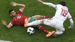 خسارة مريرة للمنتخب المغربي أمام إيران (0-1) سان بطرسبرغ الروسية 15 حزيران/يونيو 2018.