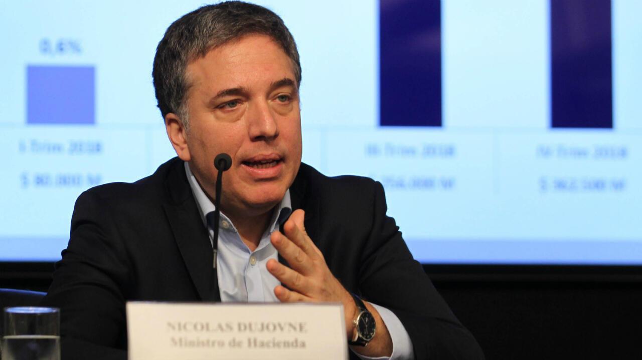 Nicolás Dujovne, renuncia al cargo de ministro de Hacienda (que ocupaba desde 2017) en medio de la crisis económica de Argentina el 17 de agosto