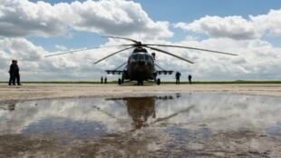مروحية مي-8 روسية في كازخستان في 18 حزيران/يونيو 2016