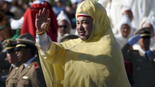 الملك المغربي محمد السادس في الرباط عام 2014.