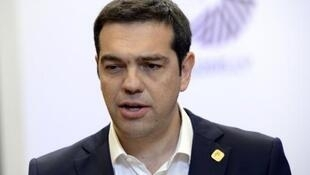 Le Premier ministre grec Alexis Tsipras à l'issue du sommet européen extraordinaire sur la crise grecque, le 23 juin 2015 à Bruxelles.