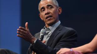 Archivo. El expresidente estadounidense, Barack Obama, durante una conferencia. Imagen sin fecha.