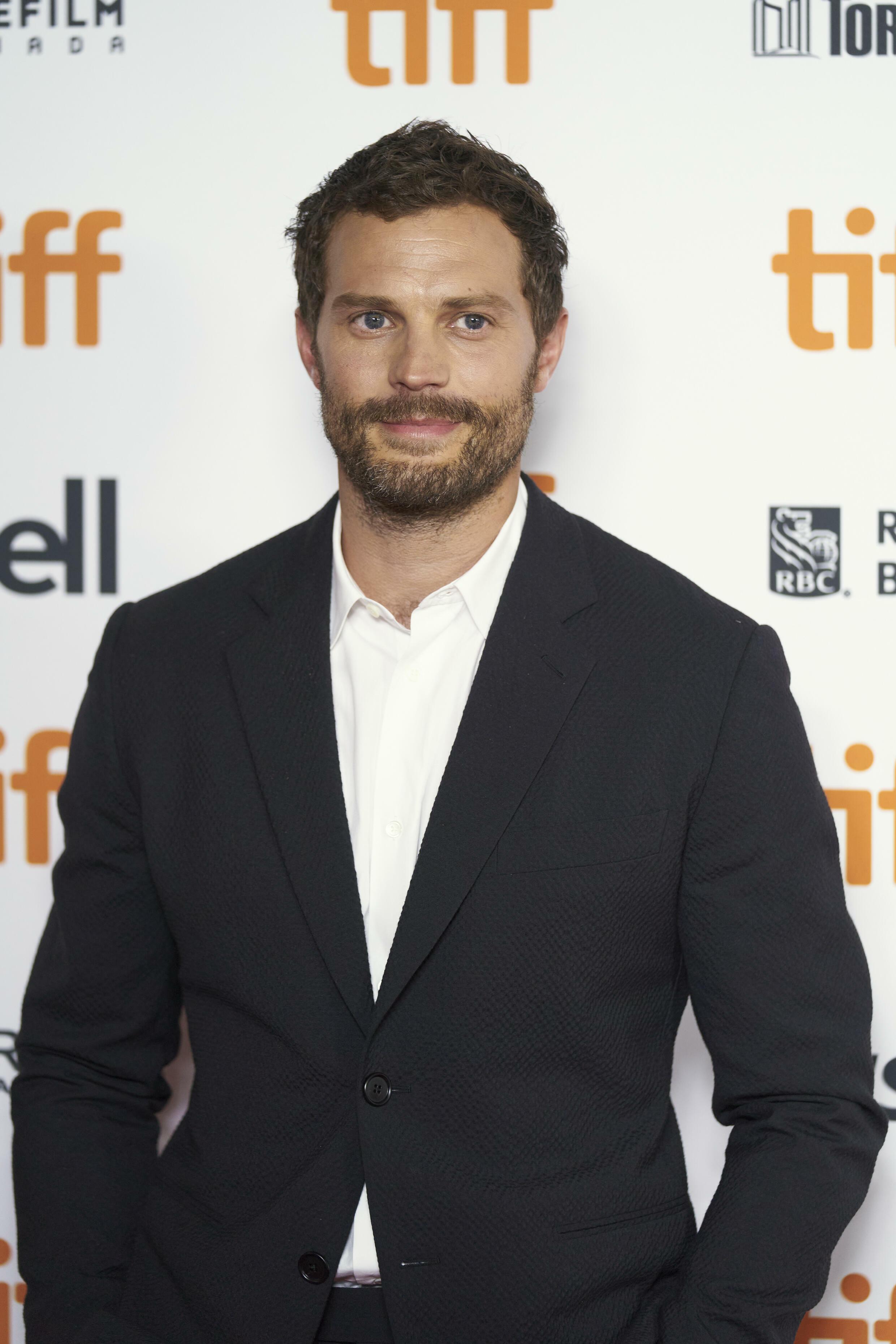 L'acteur Jamie Dornan au festival international du film de Toronto (Canada) le 12 septembre 2021.