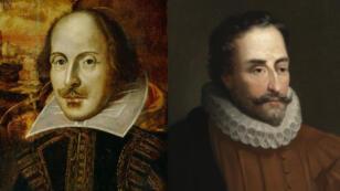 Le Royaume-Uni et l'Espagne célèbrent respectivement les 400 ans de la disparition de William Shakespeare (à gauche) et de Miguel de Cervantès.