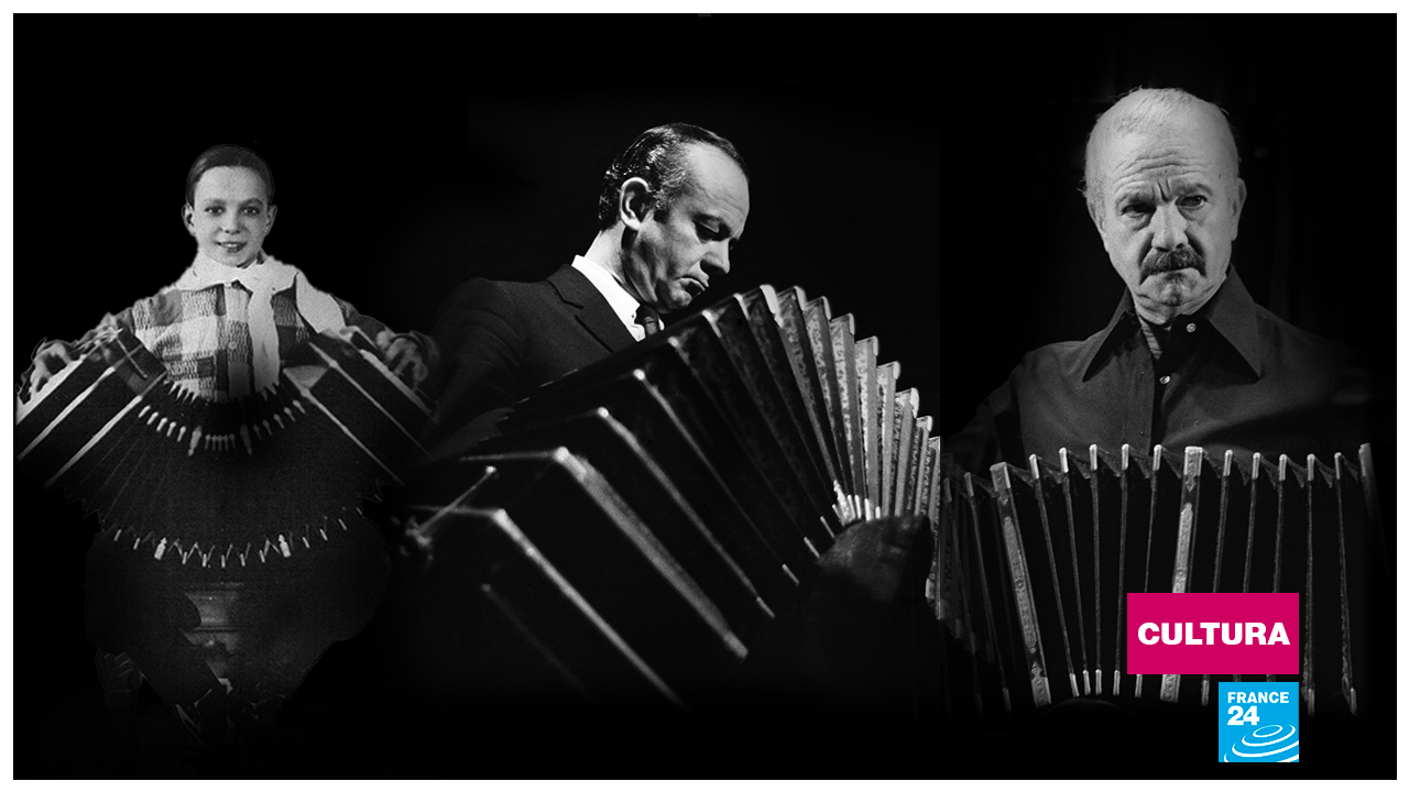 """""""La música es el arte más directo, entra por el oído y va al corazón"""", llegó a decir Piazzolla, rodeado de su bandoneón. Así fue su evolución vital desde la niñez hasta sus 71 años."""