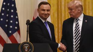 Le président américain Donald Trump et son homologue polonais Andrzej Duda à la Maison Blanche, mardi 18 septembre 2018.