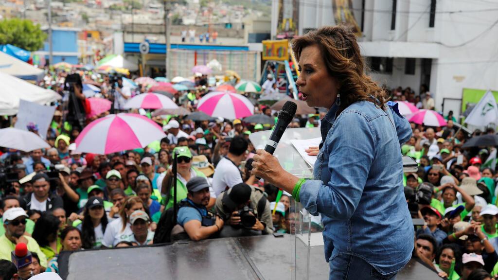 Sandra Torres, candidata de la Unidad Nacional de Esperanza (UNE)