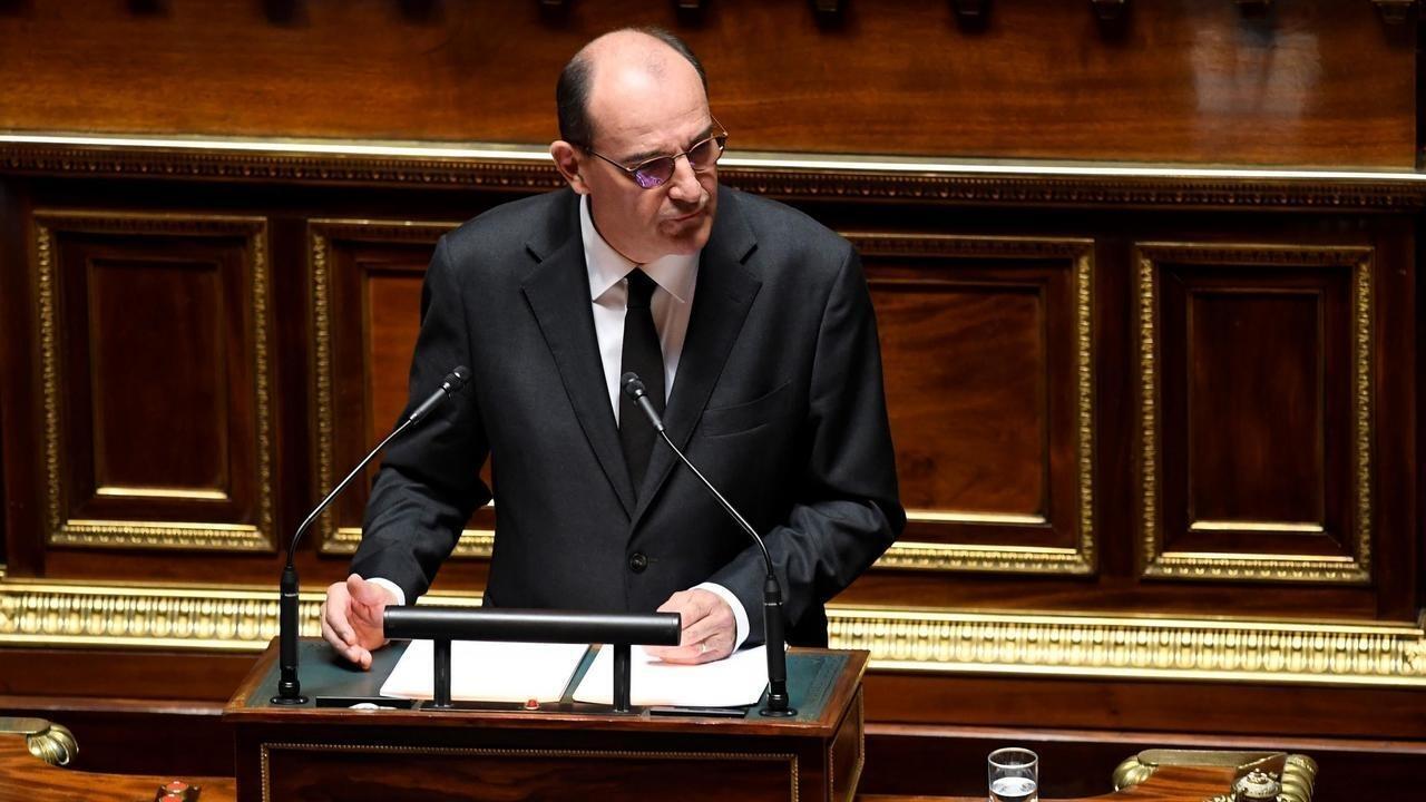 رئيس الوزراء الفرنسي جان كاستكس أمام مجلس الشيوخ، باريس، 16 يوليو/تموز 2020 .