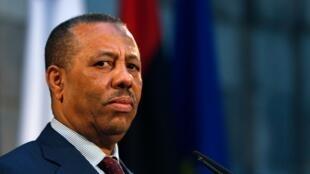 Le Premier ministre libyen Abdallah al-Theni.