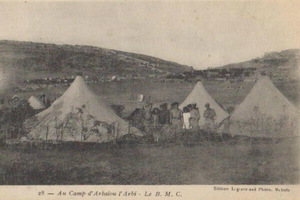A French Military Campaign Brothel (BMC) in Morocco in the 1920s