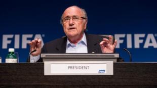Le président de la Fifa, Sepp Blatter, lors d'une réunion à Zurich, en Suisse, le 26 septembre 2014.