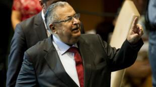Jalal Talabani lors de son allocution à la tribune des Nations unies, à New York, le 23 septembre 2011.