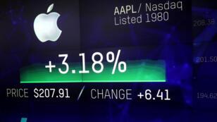 La empresa Apple se ha fortalecido en la bolsa gracias a las ventas de su teléfono inteligente iPhone desde hace 10 años.