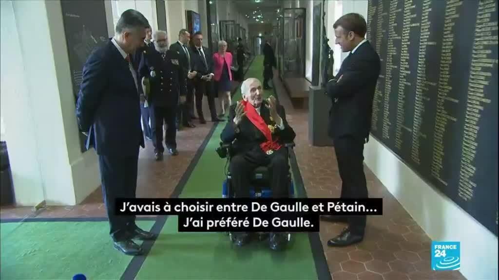 2020-06-18 13:00 Appel du 18 juin : Macron rencontre Hubert Germain puis se rend au Mont-Valérien
