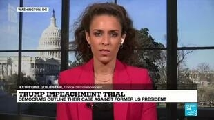 2021-02-10 18:01 Impeachment trial of former US President Donald Trump continues in Washington