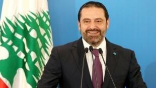 Primer Ministro libanés Saad Hariri, 7 de mayo de 2018, en Beirut.