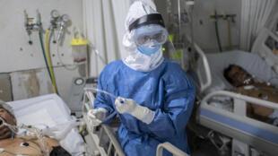 Unidad de cuidados intensivos de pacientes con covid-19 en un hospital en Atizapán, Mexico, el 22 de mayo de 2020