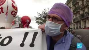 2020-07-14 17:07 14 juillet : manifestations de soignants et de gilets jaunes à Paris