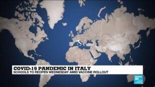 2021-04-06 13:04 Italy prepares to reopen schools