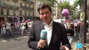 2020-07-14 17:08 Paris protesters denounce government handling of Covid-19 crisis