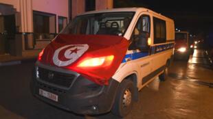 Des ambulances tunisiennes, le 8juillet2018, à Tunis.
