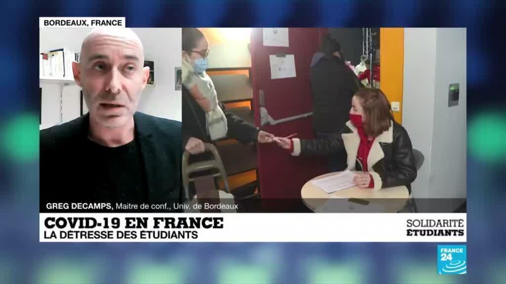 """2021-01-26 18:09 Covid-19 en France : """"Les étudiants plus vulnérables"""" face à la crise sanitaire"""