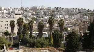 Partie occupée d'Hébron, le 17 octobre 2017, où 31 logements vont être construits.