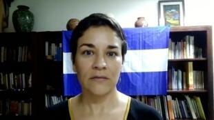Fotograma de un video de denuncia hecho por la hoy detenida Tamara Dávila Rivas, el 11 de junio de 2021, dos días antes de su arresto por la Policía de Nicaragua.