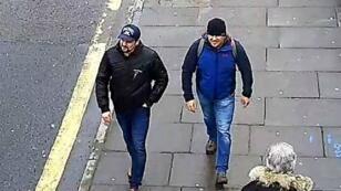 المشتبه بهما  بتسميم سكريبال ألكسندر بتروف ورسلان بوشيروف في غرب لندن في مارس/آذار 2018
