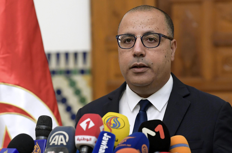 رئيس الحكومة التونسي هشام المشيشي في قرطاج في 10 آب/أغسطس 2020