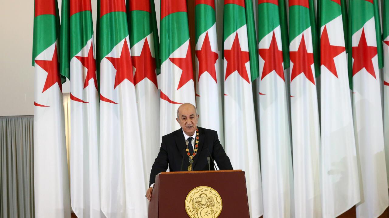 Le président algérien Abdelmadjid Tebboune, le 19 décembre 2019, à Alger.