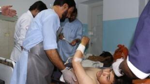 أحد ضحايا التفجير المزدوج، مستشفى كابول في 5 أيلول/سبتمبر 2018