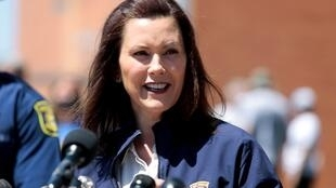 File photo: Michigan Governor Gretchen Whitmer gives a press conference in downtown Midland, Michigan, U.S., May 20, 2020.