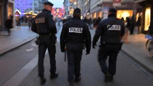 Une patrouille à Strasbourg, en décembre 2016.