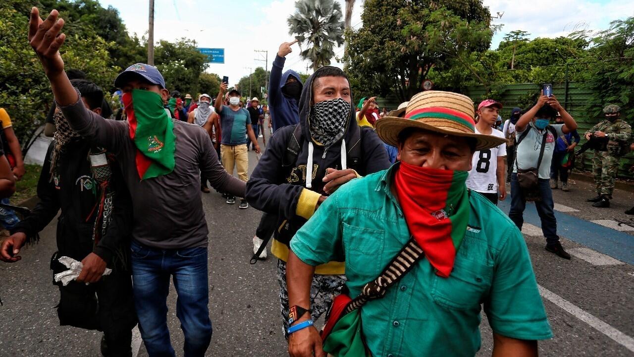 Colombia: visita relámpago de Duque a una Cali conmocionada por los ataques armados a indígenas