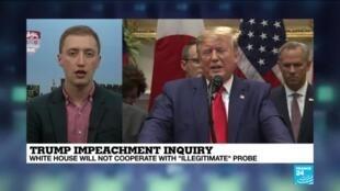 "2019-10-09 14:35 Trump Impeachment Inquiry: White House Will Not Cooperate With ""Illegitimate"" Probe"
