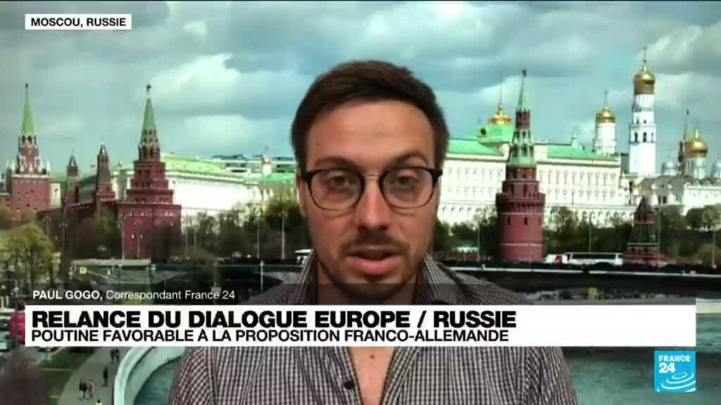 2021-06-24 17:01 Relance du dialogue Europe / Russie : V. Poutine favorable à la proposition franco-allemande