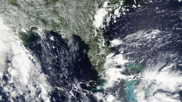 Imagen satelital de la NASA de la tormenta tropical Gordon cerca de Florida, EE. UU. 2 de septiembre de 2018.