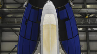 A photo of the X-37B drone provided to AFP on May 6, 2020 by Boeing, its manufacturer