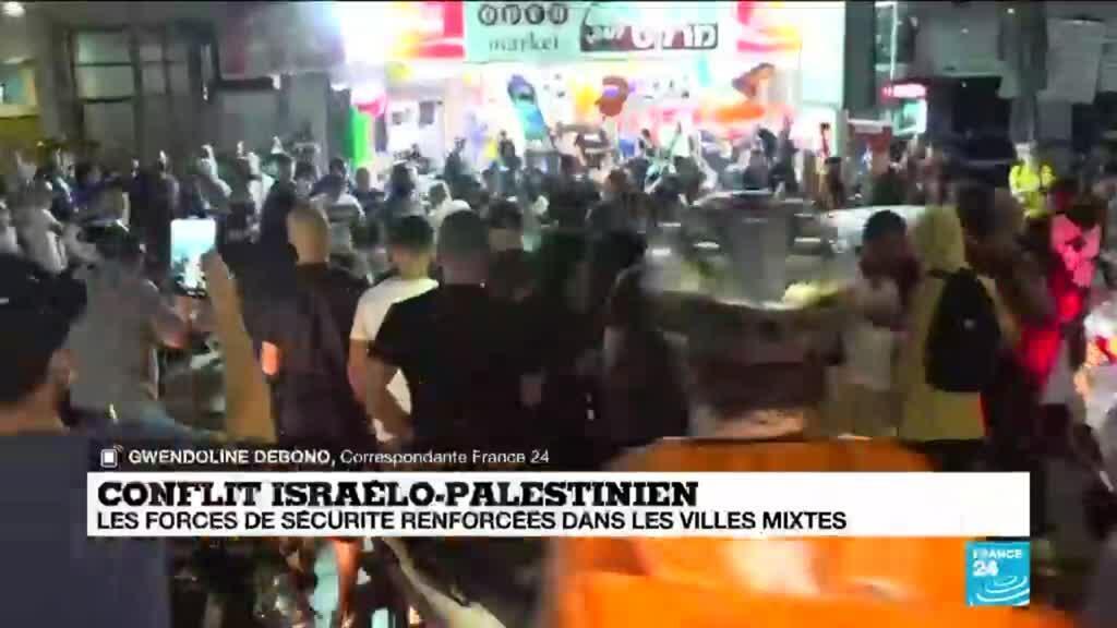 2021-05-13 13:06 Conflit israelo-palestinien : les forces de sécurité renforcées dans les villes mixtes