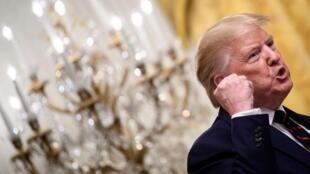 Donald Trump à la Maison Blanche le 2 octobre 2019.