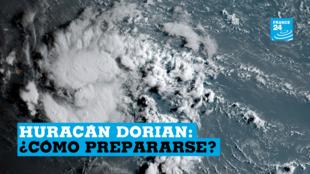 Una imagen de Dorian, cuando aún era tormenta tropical, frente a la costa de Venezuela, el 26 de agosto de 2019.
