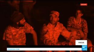 """Ibrahim Jadhran, le chef des """"Gardes des installations pétrolières"""" (PFG), interviewé par France 24 alors qu'il vivait, sans le savoir, les derniers instants de son règne."""