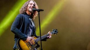 "Chris Cornell au festival ""Welcome to Rockville"" à Jacksonville, en avril 2017."
