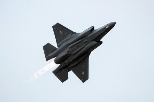 Un F-35 israélien en vol.