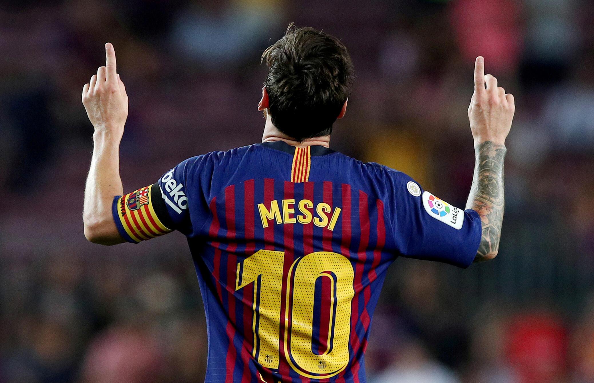 ليونيل ميسي لاعب برشلونة، إسبانيا - 18 أغسطس / آب 2018