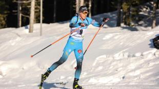 Le Français Quentin Fillon-Maillet, médaillé de bronze lors de la mass start des Mondiaux de biathlon, le 21 février 2021 à Pokljuka