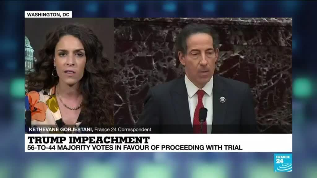 2021-02-10 08:02 Trump trial gets go-ahead after emotional, graphic first day