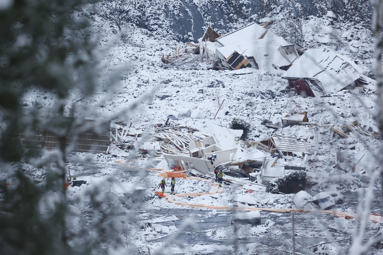NORWAY LANDSLIDE DESTRUCTION