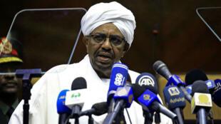 Le président soudanais Omar el-Béchir, le 2 avril 2018.
